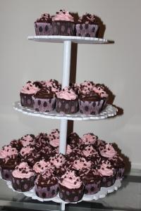 Cupcake rosa e marrom